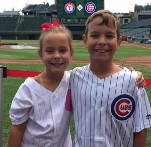 Wallin twins at Cubs game