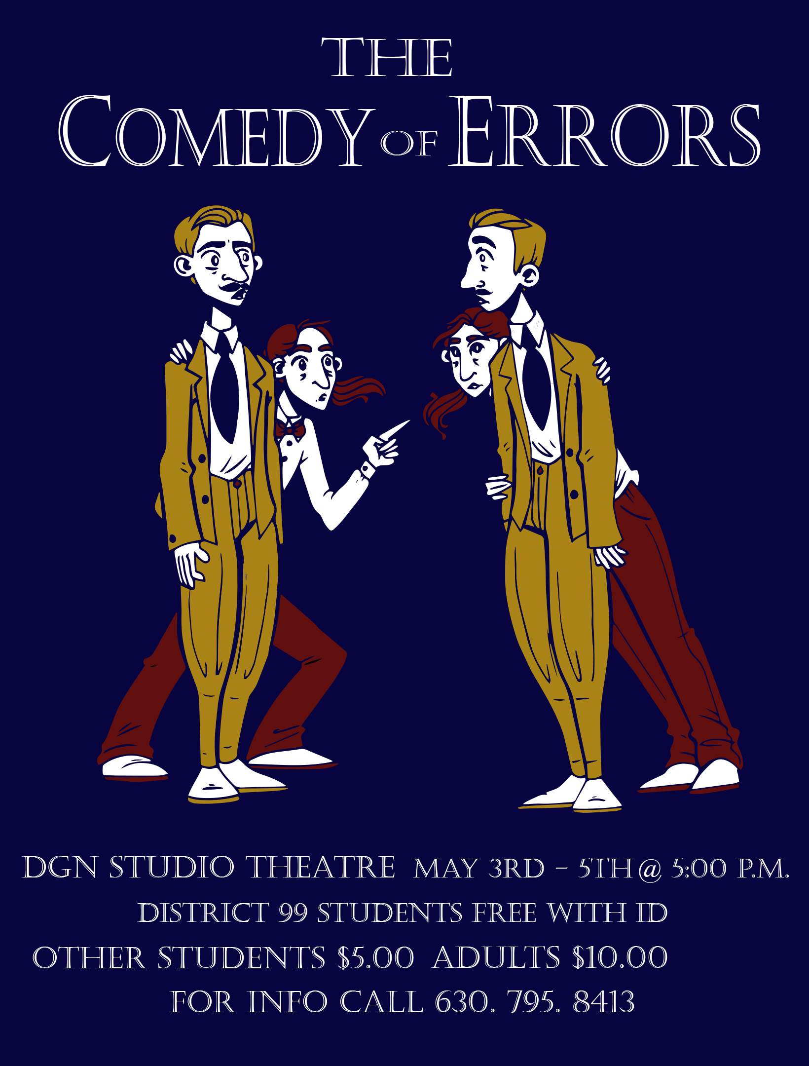 DGN Comedy of Errors poster
