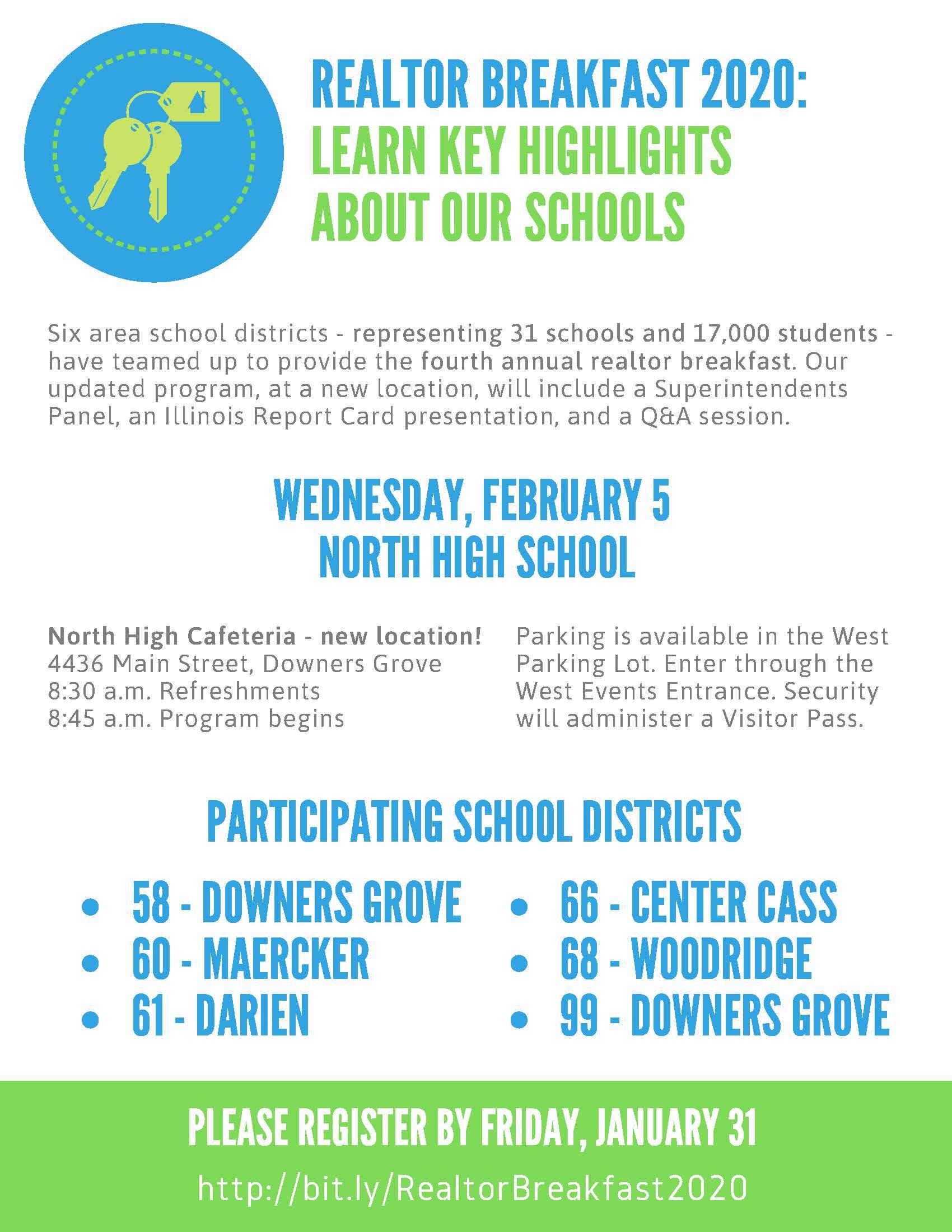 Local School District Realtor Breakfast Flier 2020